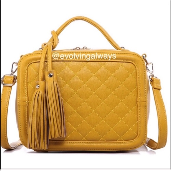 Lux Bag Beautiful Mustard Color Sizable
